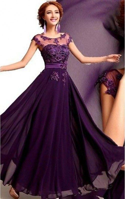 Hot Sale A-Line Floor-Length Evening Dresses