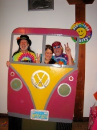 WOULD be cute as a photobooth  Great photo booth for hippie party