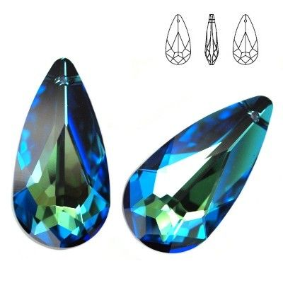 6100 Teardrop 24mm Bermuda Blue  Dimensions: 24,0x12,0 mm Colour: Crystal Bermuda Blue ( Crystal BBL ) 1 package = 1 piece