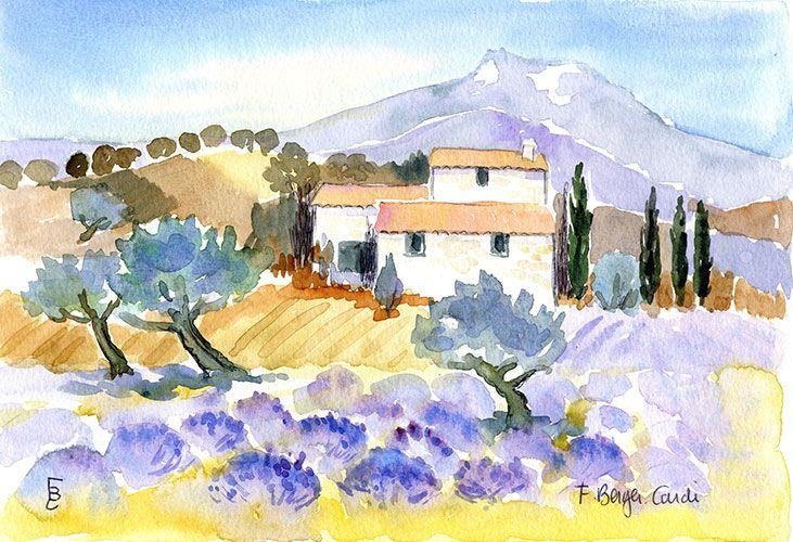 Aquarelles La Provence Artiste Peintre Francette Berger