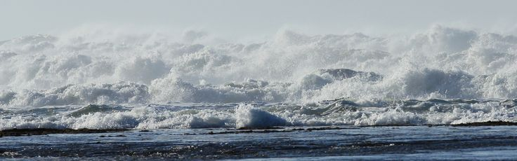 Wild waves after wind