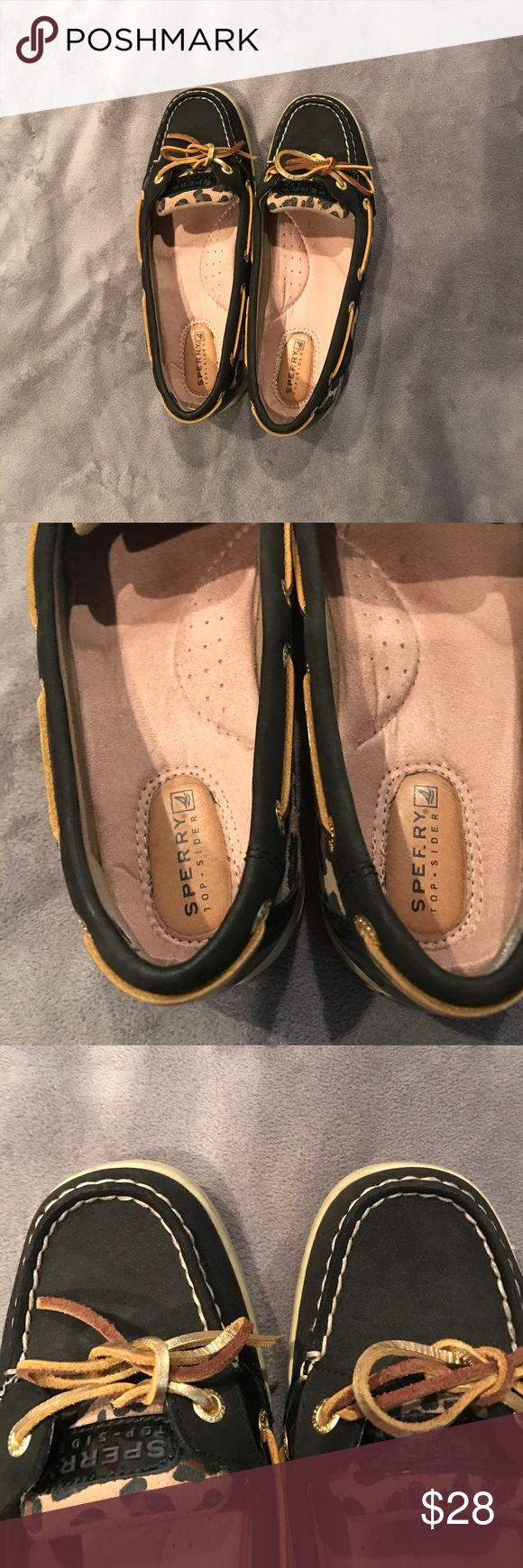 and black Sperry So cute! Worn a few times, they run a touch large so would be better for a size 9 Sperry Top-Sider Shoes Flats & Loafers