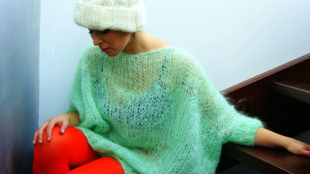 Oversize Mohair Sweater #knitted, #handmade, #mohair, #oversize, #mint, #nudakillers