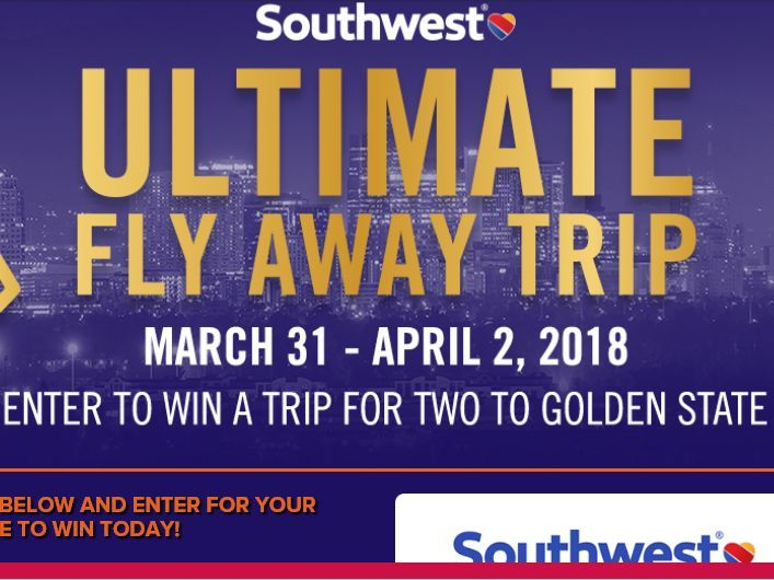 Enter the Southwest Airlines Ultimate Fly Away Trip Sweepstakes for your chance to win a 3-night trip for two to Oakland, CA to see the Suns vs. Golden State Warriors Game!