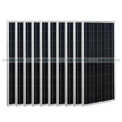 1KW 10 x 100W 12V poly solar panel  PV solar module for RV boat  battery charge