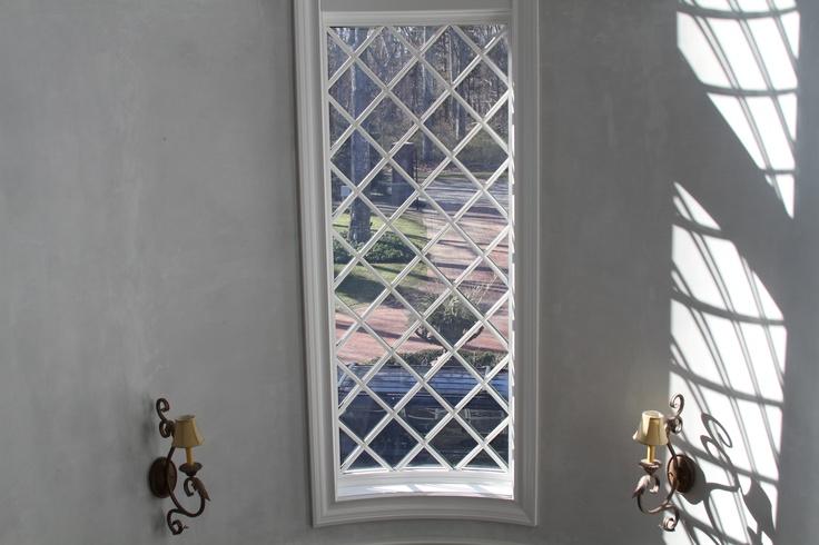 True Curved Glass Diamond Grill Pattern Window Windows