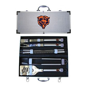 Siskiyou NFL® Chicago Bears 8-Piece BBQ Set with Hard Case