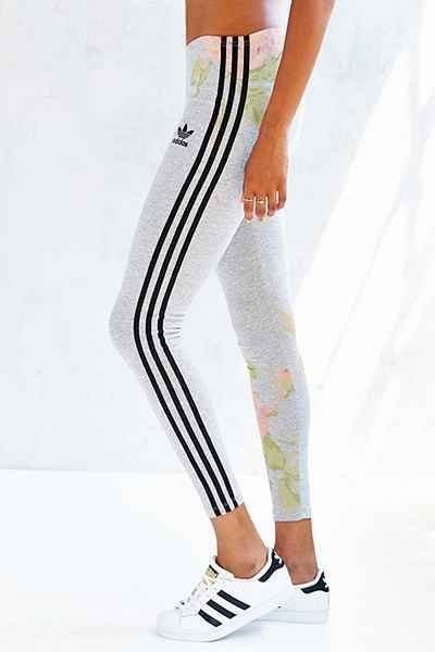 adidas Originals Pastel Rose Legging - Urban Outfitters | Vertical lines to elongate the legs. | Women's fashion, womens, sporty, everyday, 2015.