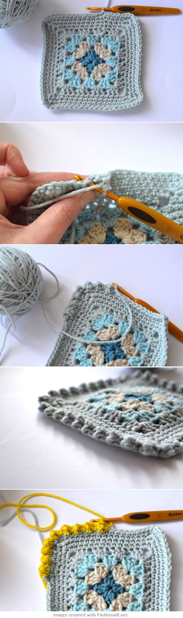 #Crochet #tutorial - Bobble Border Tutorial - Great for a square edging or to use as a border on many other projects - from Dover & Madden.