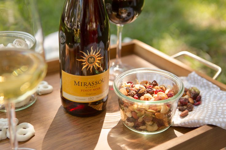 Mirassou Pinot Noir and some salty snacks make for the ultimate al fresco evening.