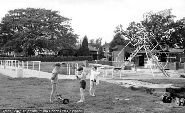 Burgess Hill, The Swimming Pool c.1960, from Francis Frith