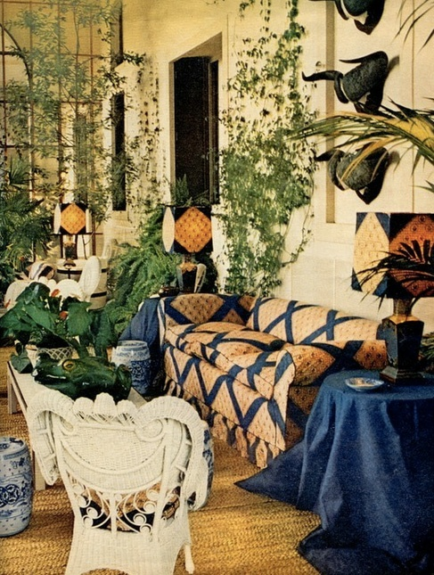 The Winter Garden- The rooms of Vistorta di Salice that Renzo Mongiardino decorated for Conte and Contessa Brando Brandolini d'Adda. Venice, Italy