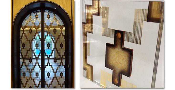 Verre Eglomisé Laminated Doors