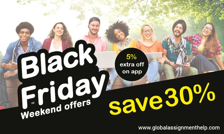 As Black Friday is just a stone's throw away Global Assignment Help is offering a discount of 30% + 5% Extra off if you order via our app. All the documents delivered from our end are well-researched and written by the subject-oriented experts. Our academic writers have vast experience in assignment writing service. So hurry up and claim your discount now! Click on given link: