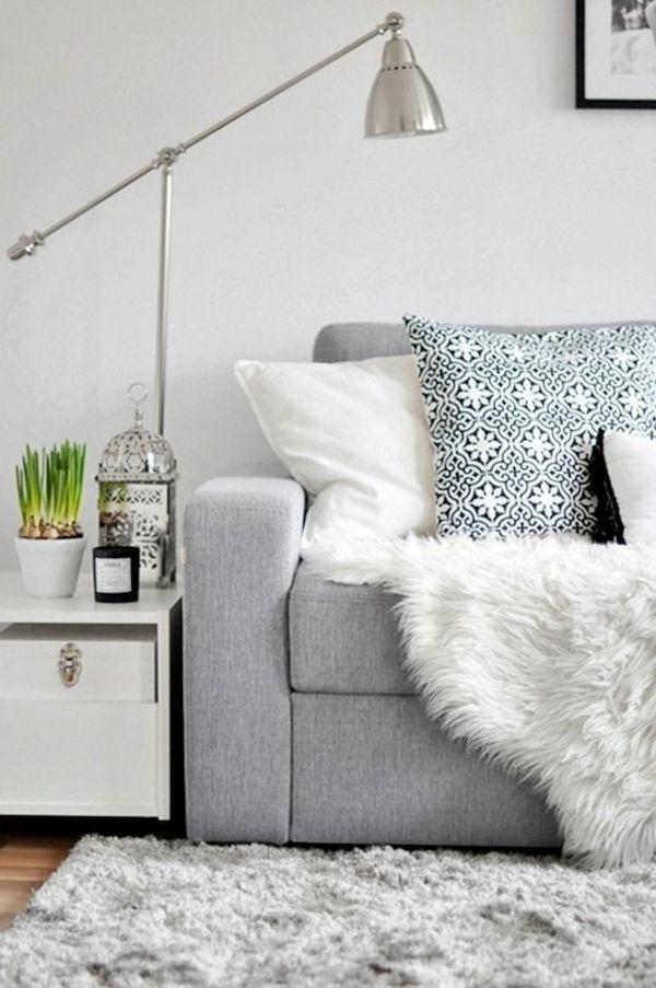Wohnzimmerlampe Bodenlampe In Silber