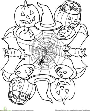 331 best Coloring Halloween images on Pinterest Coloring books