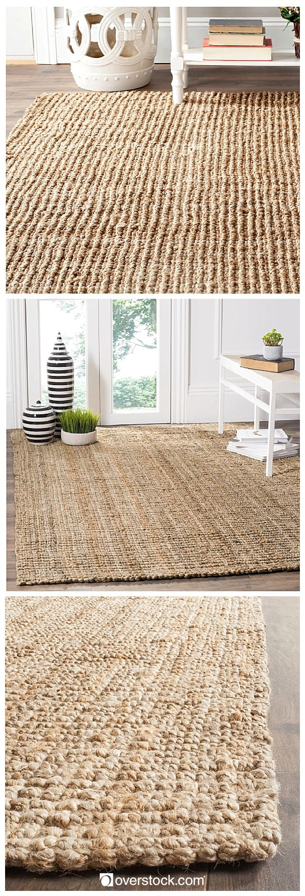 This rug works well in low- to medium-traffic areas of the home, such as the office, living room, or under a coffee table for a clean and sleek aesthetic. Its casual nautical feel is evocative of a coastal living environment, yet its limitless versatility allows it to assimilate effortlessly into an urban setting. Safavieh's natural fiber rugs will give any living space an impeccably relaxed look with a dash of fashion.