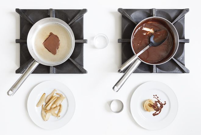 Pere al cioccolato :http://www.laboratoriocingoli.it/pere-al-cioccolato/