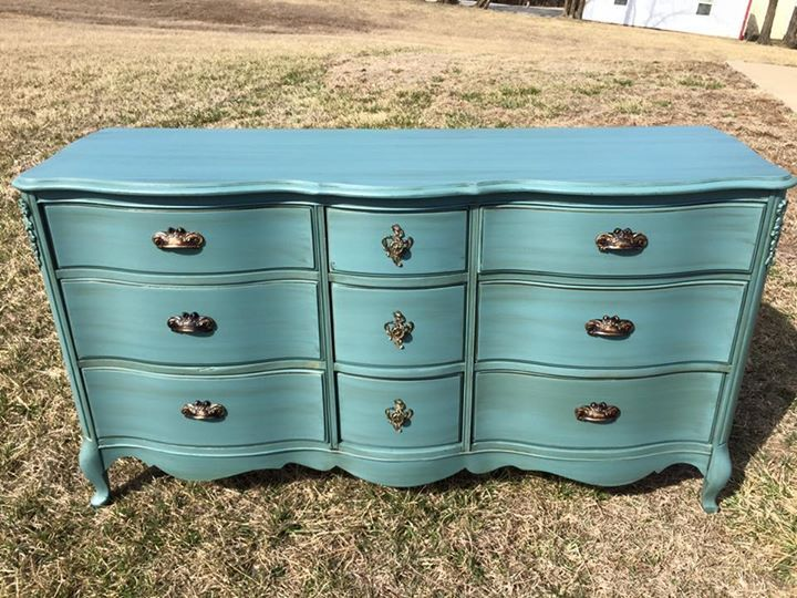 Refinished French Provincial Dresser In Amy Howard Vintage