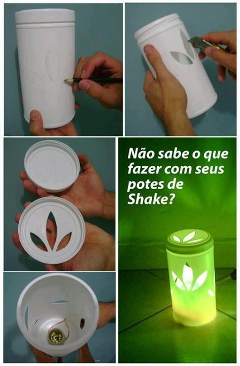 This is for all HERBALIFE fans! What an awesome idea to recycle our Formula 1 containers! :-)
