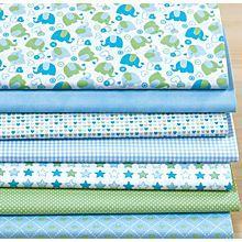 Patchwork- und Quiltpaket 'Baby Boy', blau/grün