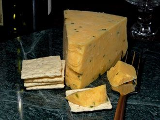 Double Gloucester - It is a traditional, unpasteurized, semi-hard cheese which has been made in Gloucestershire since the sixteenth century. Records show, however, that Gloucester was known as early as the 8th century. The hard, natural rind has some gray-blue moulds and bears the marks of the cloth in which it is matured.