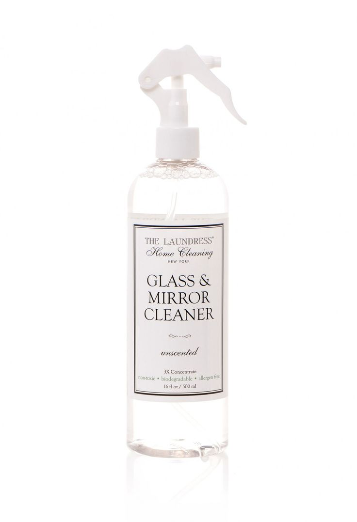 Glass & Mirror Cleaner from The  Laundress $12.00 http://www.thelaundress.com/glass-mirror-cleaner All of their products work so well, smell so good and look so simple and pretty in the cabinet. I want them all!!