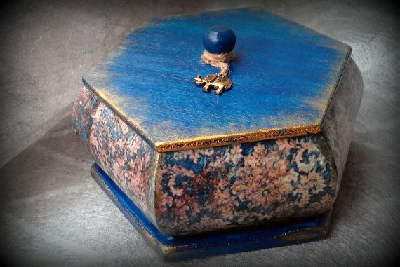 Wooden box: Elephant's dream  handmade product by LettersFromHelen