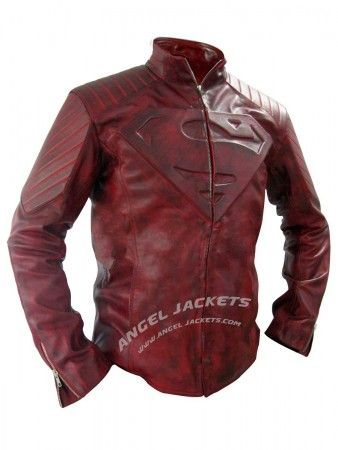 Smallville Red distressed leather jacket