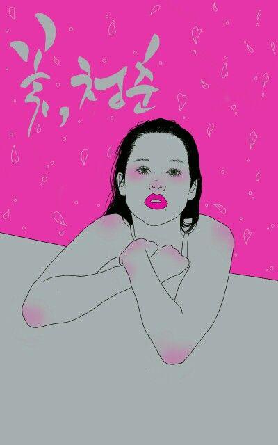 Http://www.facebook.com/nanniyaa Http://blog.naver.com/sa_ranghae  #NanNi #난니 #그림그리는여자 #Art #아트 #그림 #수작업 #손그림 #illustration #illust #일러스트 #design #디자인 #sketch #스케치 #drawing #드로잉 #croquis #크로키 #artwork #love #follow #hotpink #pink #gray