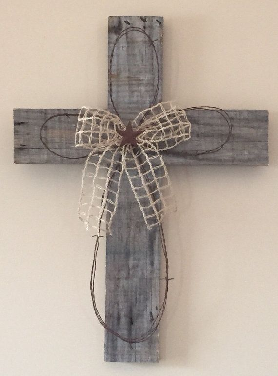 Barnwood Cross by JustCountryCrafts on Etsy