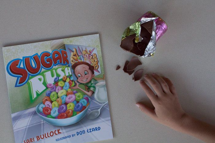 Kids Book Review : Sugar Rush, author: Sari Bullock, illustrator: Don Ezard