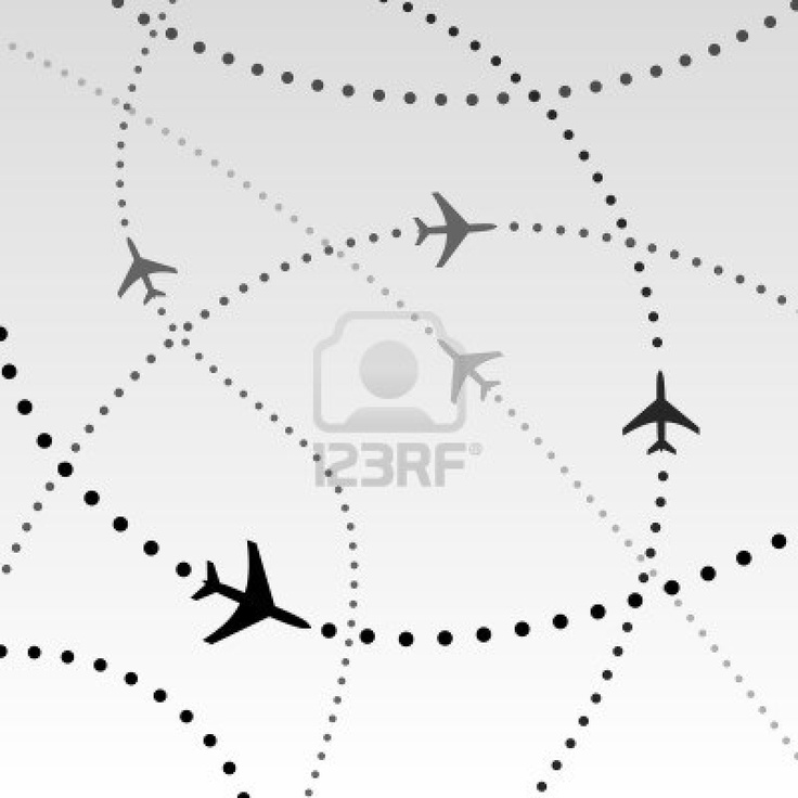 Dotted line flight paths