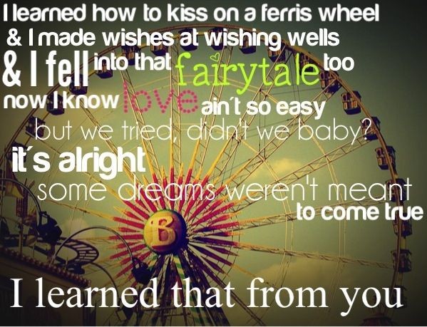 I learned that from you, Sara Evans, lyrics, country