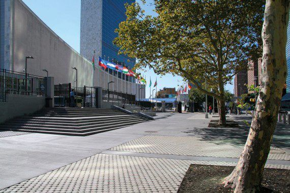 Unilock - United Nations Headquarters with Ecoloc paver in New York