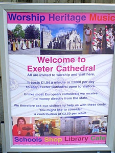 Exeter Cathedral poster, Devon.