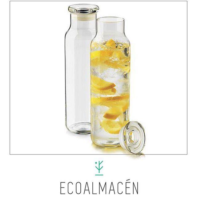 Hoy te presentamos el set de botellas con tapa para infusiones o aguas saborizadas.Divinas para vestir tu mesa. #Ecoalmacen