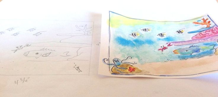 """parrotfishpublishing.com  Watercolor by Christina Maas  Illustration from """"A Parrotfish's Tale"""""""