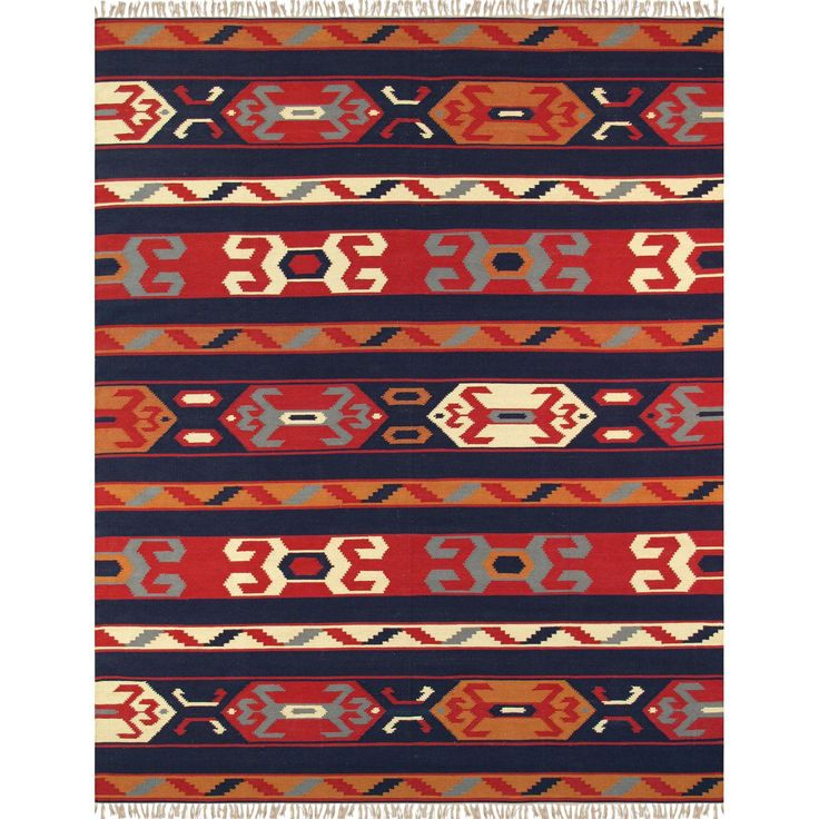 "Anatolian Hand-Woven Cotton Rug - 8' 0"" X 10' 0"" - Image 1 of 4"
