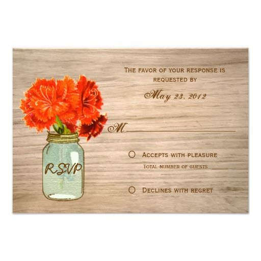Discount DealsCountry Rustic Mason Jar Flowers RSVP Personalized AnnouncementYes I can say you are on right site we just collected best shopping store that have