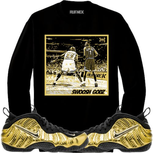 Metallic Gold Foamposites Sneaker Crewneck - SGMJ