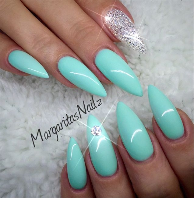 Summer almond nail designs : Best mint green nails ideas on