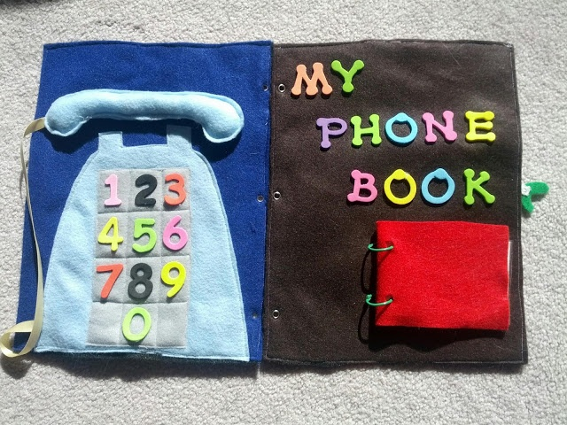 And Next Comes L: Telephone Quiet Book Pages