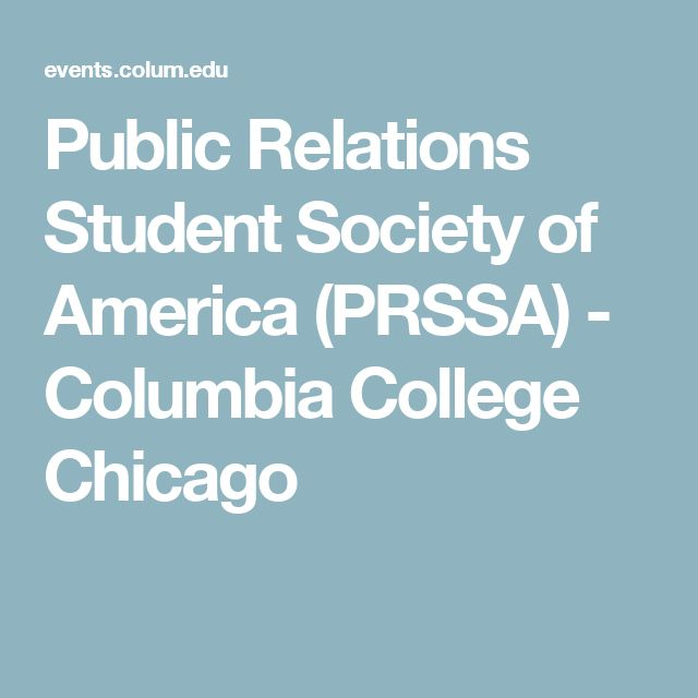 Public Relations Student Society of America (PRSSA)      - Columbia College Chicago