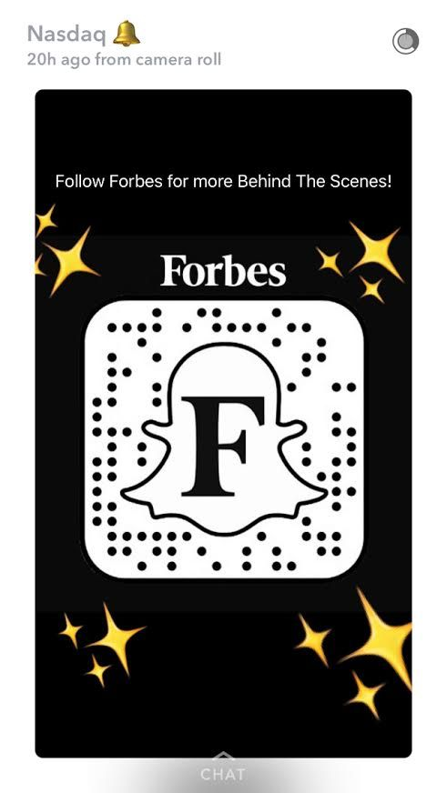 Forbes on Snapchat. #forbes #snapchat