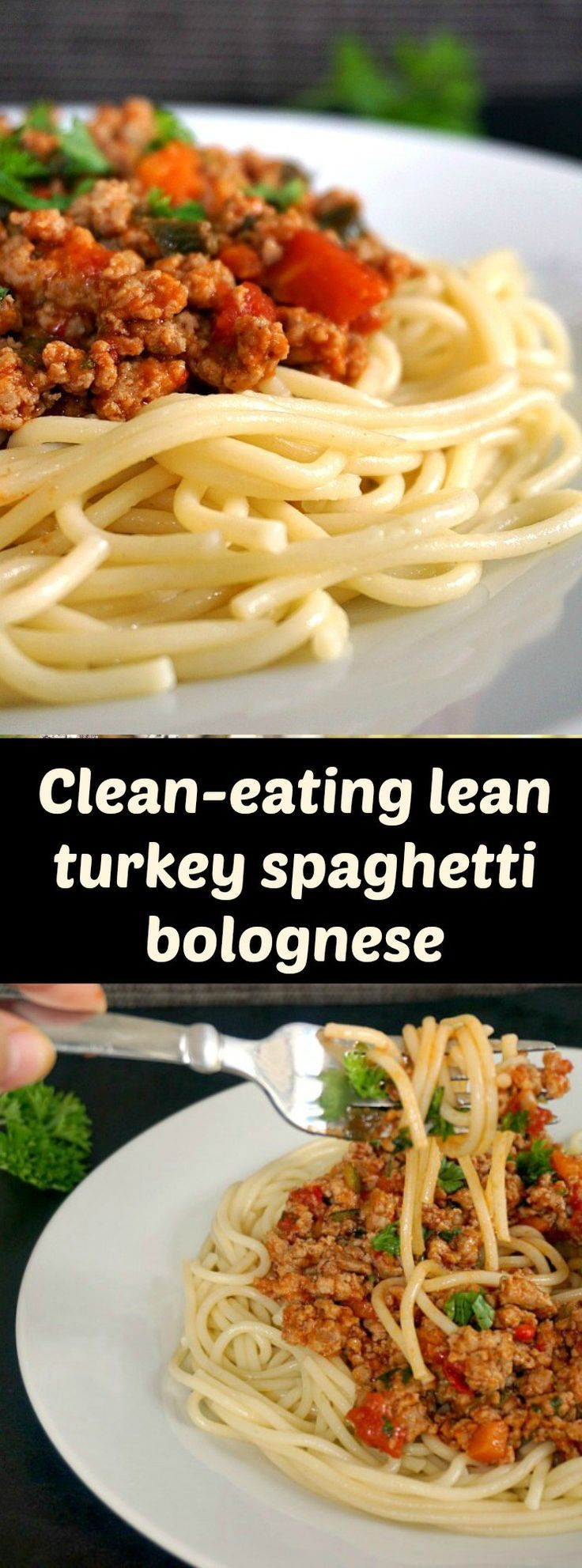 Clean-eating lean turkey spaghetti bolognese with courgette (zucchini, red bell pepper and carrots,  healthy protein-packed meal that gives comfort food a new meaning.