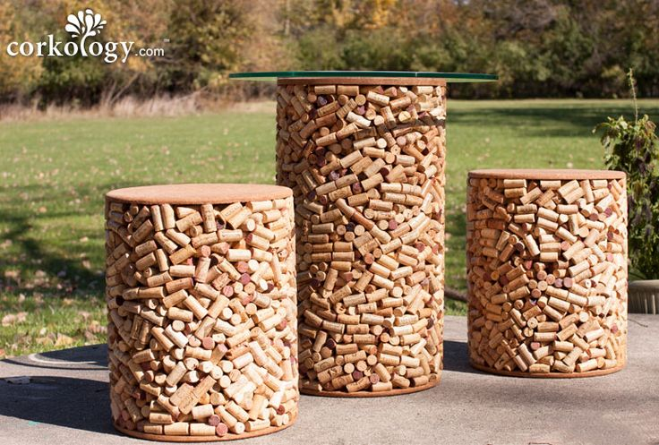 Get Schooled In Corkology: Corkology Solid Wine Cork Stopper Patio Set
