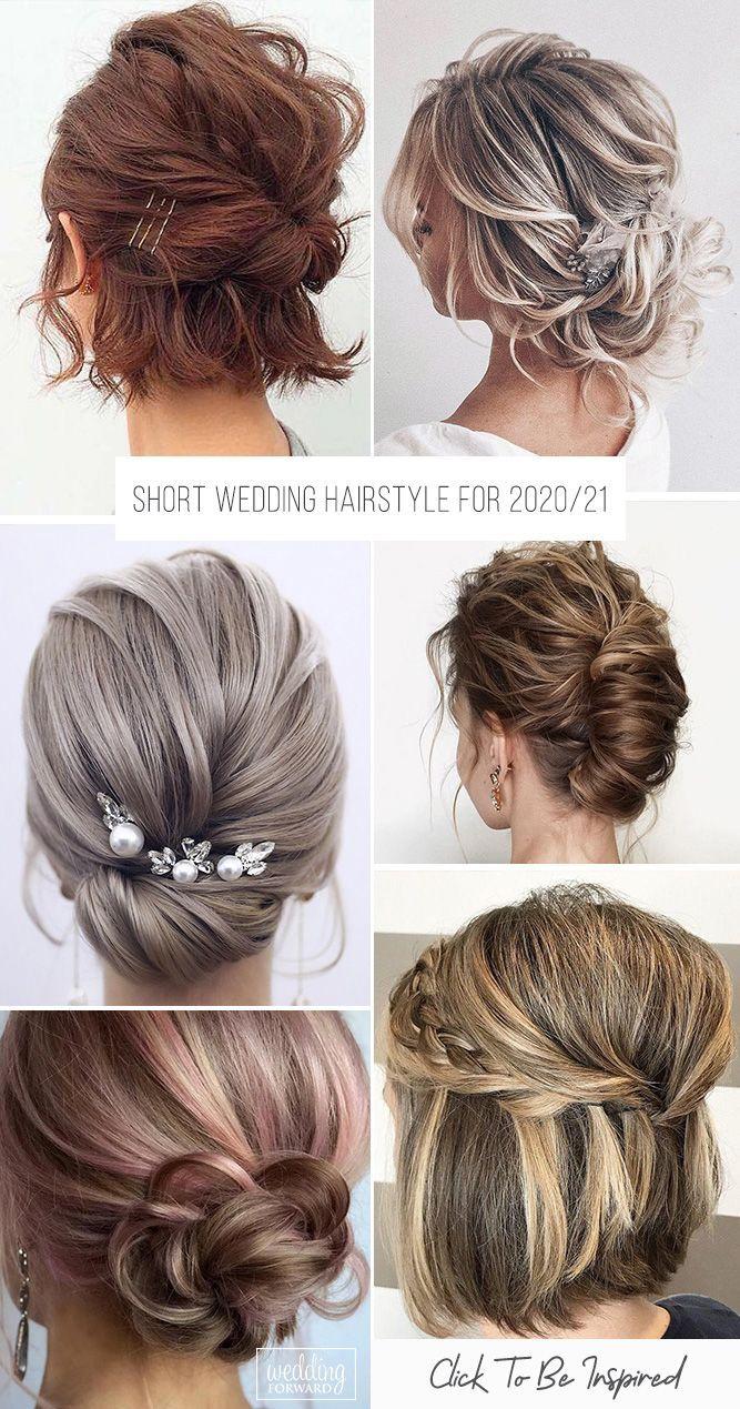 48 Trendiest Short Wedding Hairstyle Ideas Wedding Forward In 2020 Short Wedding Hair Short Hair Hacks Cute Hairstyles For Short Hair