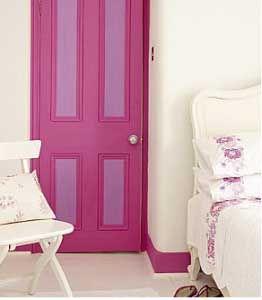 Fotos e ideas para pintar y decorar las puertas de casa.