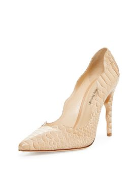 Zola Python Scalloped Pump from Designer Shoes Feat. Barbara Bui on Gilt